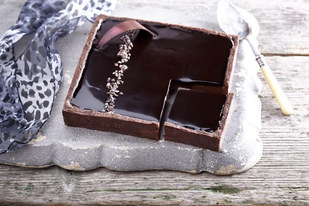 Σοκολάτα με σοκολατένια βάση